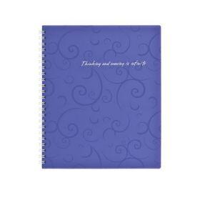 Бизнес-тетрадь на пружине Barocco В5, 80 листов, клетка, пластиковая обложка, фиолетовый