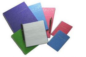 Бизнес-тетрадь на пружине Barocco А6, 80 листов, клетка, пластиковая обложка, голубой