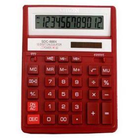 Калькулятор SDC-888 ХRD, красный, 12 разрядов