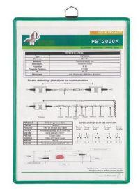 Демопанель настенная подвесная  А4 Tarifold зеленая (5 шт) (TRR)
