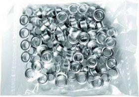 Заклепки (люверсы) 6 мм для ВРE - 01, серебро, 100 шт