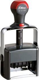 Датер металлический, автомат. со свободным полем 56х33 мм (2 х цв. подушка)