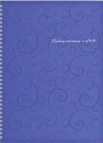 Бизнес-тетрадь на пружине Barocco А4, 80 листов, клетка, пластиковая обложка, фиолетовый