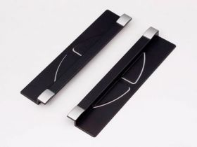 Держатель для бумаг для монитора, Black&Silver
