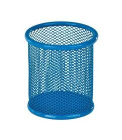 Подставка для ручек металлическая круглая ZiBi, синяя
