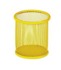 Подставка для ручек металлическая круглая ZiBi, желтая