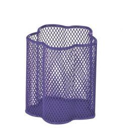 Подставка для ручек металлическая ZiBi Цветок, фиолетовая