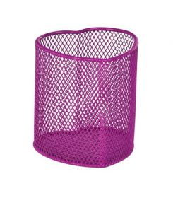 Подставка для ручек металлическая ZiBi Сердце, розовая