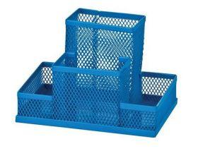 Подставка для офисных принадлежностей металлическая ZiBi, синяя