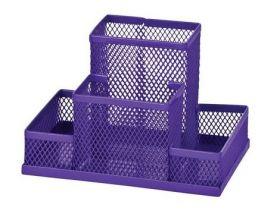 Подставка для офисных принадлежностей металлическая ZiBi, фиолетовая