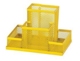 Подставка для офисных принадлежностей металлическая ZiBi, желтая