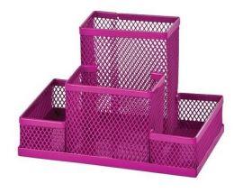 Подставка для офисных принадлежностей металлическая ZiBi, розовая
