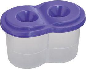 Стакан-непроливайка двойной, фиолетовый