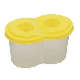Стакан-непроливайка двойной, желтый