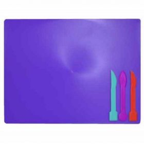 Доска для пластилина ZiBi 18х25 см, 3 стека, фиолетовая