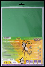 Бумага цветная самоклеящаяся, А4, 11 листов, 11 цветов (9 стандарт+2 неон)