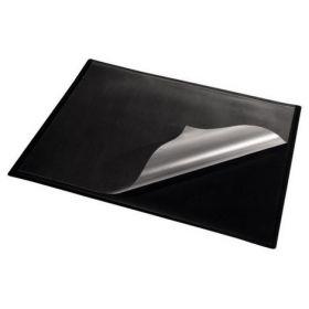Подкладка для письма черная, двухслойная с клапаном