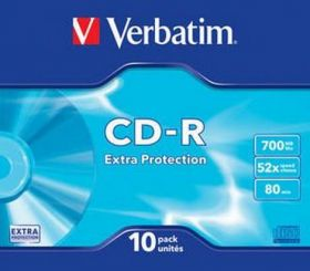 Диск CD-R, 700Mb, 52х, 80min, Color, Slim