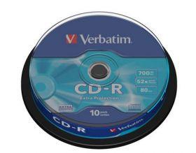 Диск CD-R, 700Mb, 52х, 80min, Cake(10), Extra
