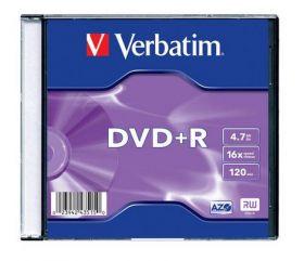 Диск DVD+R, 4.7Gb, 16х, Slim