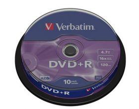 Диск DVD-R, 4.7Gb, 16х, Cake(10), Silver