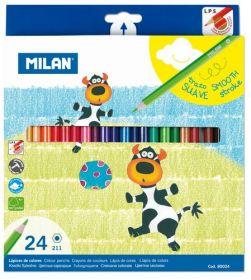 Карандаши цветные MILAN, 24 цвета