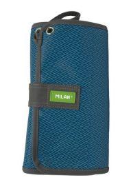 Мультипенал с наполнением MILAN Prints II blue