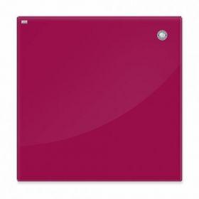 Доска стеклянная магнитно-маркерная 2х3  45x45 см, красная