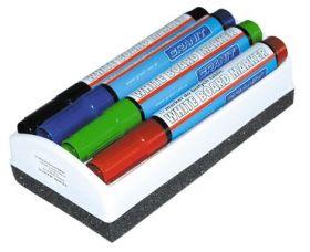 Набор маркеров для досок GRANIT M460, 2-3 мм, 4 шт., ассорти, губка