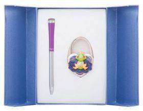 """Набор подарочный """"Fairy Tale"""": ручка шариковая + крючок д/ сумки, фиолетовый"""