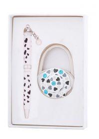"""Набор подарочный """"Elegance"""": ручка шариковая + крючок д/ сумки, белый"""
