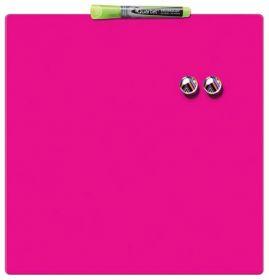 Доска магнитно-маркерная REXEL Quartet Color  36х36 см, розовая