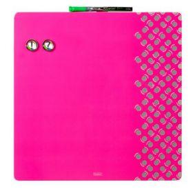 Доска магнитно-маркерная REXEL Quartet Combo  36х36 см, розовая