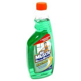 Средство для мытья стекол Mr. Muscul, сменная бутылка, 500 мл