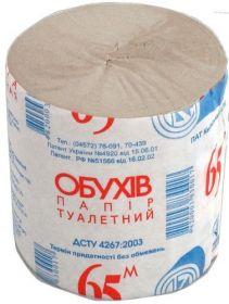 Бумага туалетная Обухов 65, 1 слой, серая