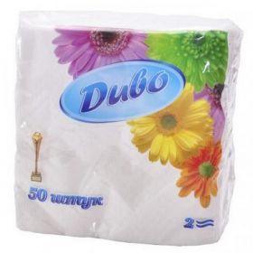 Салфетки бумажные Диво 24х24 см, белые, 50 шт