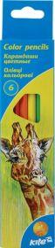Карандаши цветные Kite, 6 цветов