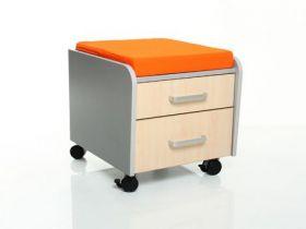 Тумбочка Mealux BD-C2M/KY фасад клен / подушка оранжевая