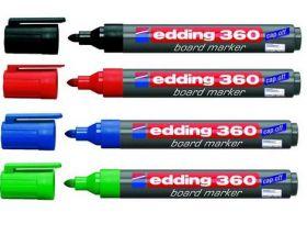 Набор маркеров для досок edding e-360, 1.5-3 мм, 4 шт., ассорти