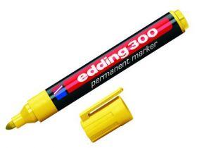 Маркер перманентный e-300, edding, желтый