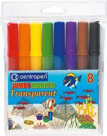 Фломастеры JUMBO TRANSPARENT 8580, Centropen, 8 цветов
