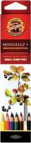 Карандаши цветные акварельные Mondeluz, 6 цветов (3715)