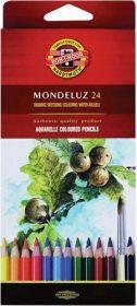 Карандаши цветные акварельные Mondeluz, 24 цвета (3718)