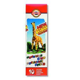 "Пластилин ""Жираф"", 10 цветов, 200г"
