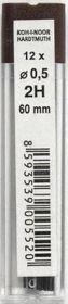Грифели для механических карандашей 2Н, 0.5 мм (4152.2Н)