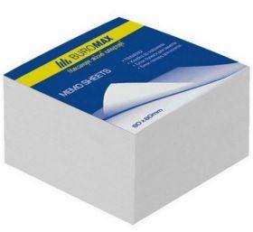 Блок белой бумаги для заметок 80х80х20 мм, склеенный