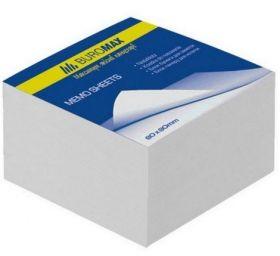 Блок белой бумаги для заметок 80х80х20 мм, не склеенный