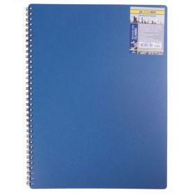 Бизнес-тетрадь на пружине Classic А6, 80 листов, клетка, пластиковая обложка, синий