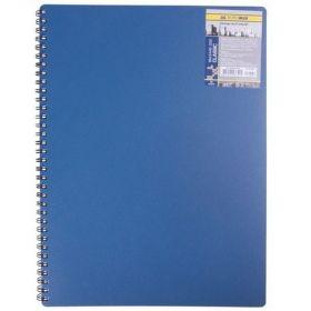 Бизнес-тетрадь на пружине Classic А4, 80 листов, клетка, пластиковая обложка, синий