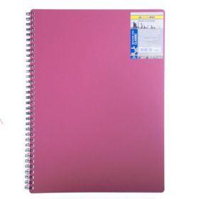 Бизнес-тетрадь на пружине Classic А4, 80 листов, клетка, пластиковая обложка, красный